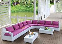 Садовая мебель: угловой диван со столиками