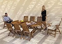 Садовая мебель из акации, стол и стулья Newman