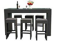 Барный комплект из 6 барных стульев и стола