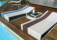 Шезлонг SUMMERTIME BED + столик