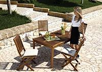 Садовая мебель из акации, стол и стулья Damon