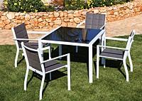 Стол квадрат Aqua и стулья