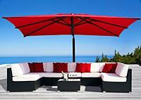 Садовая мебель: диван, кресло, стол