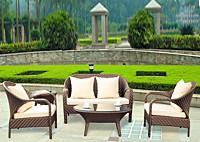 Садовая мебель: диван, два кресла и стол