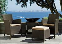 Комплект: 2 кресла, столик и пуфик